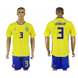 2018 Fifa World Cup Sweden Home #3 Jersey
