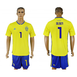 2018 Fifa World Cup Sweden Home #1 Jersey