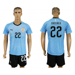 2018 Fifa World Cup Uruguay Home #22 Jersey