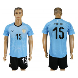 2018 Fifa World Cup Uruguay Home #15 Jersey