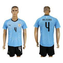 2018 Fifa World Cup Uruguay Home #4 Jersey
