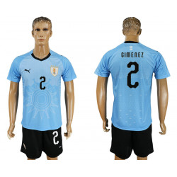 2018 Fifa World Cup Uruguay Home #2 Jersey