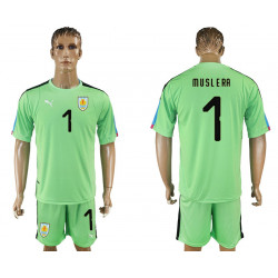 2018 Fifa World Cup Uruguay Green Goalkeeper Jersey