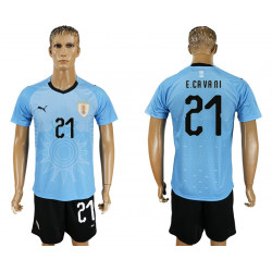 2018 Fifa World Cup Uruguay Home #21 Jersey