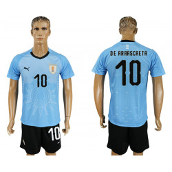 2018 Fifa World Cup Uruguay Home #10 Jersey