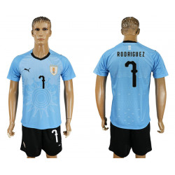 2018 Fifa World Cup Uruguay Home #7 Jersey