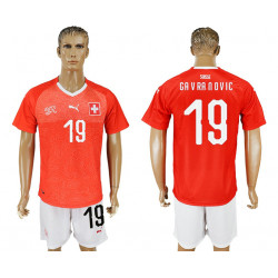 2018 Fifa World Cup Switzerland Home #19 Jersey