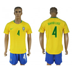 2018 Fifa World Cup Brazil Home #4 Jersey