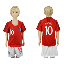 Kids 2018 Fifa World Cup England Away Kids 10# Jersey