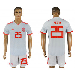 2018 Fifa World Cup Spain Away #25 Jersey