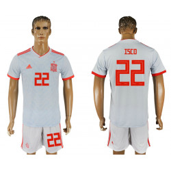 2018 Fifa World Cup Spain Away #22 Jersey