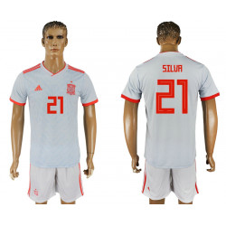 2018 Fifa World Cup Spain Away #21 Jersey