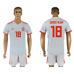 2018 Fifa World Cup Spain Away #18 Jersey