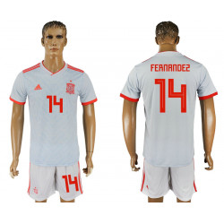 2018 Fifa World Cup Spain Away #14 Jersey