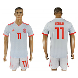 2018 Fifa World Cup Spain Away #11 Jersey