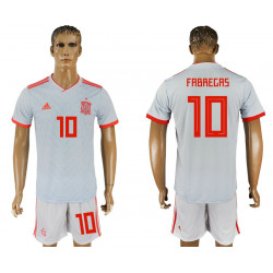2018 Fifa World Cup Spain Away #10 Jersey