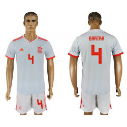 2018 Fifa World Cup Spain Away #4 Jersey