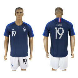 2018 Fifa World Cup France Home #19 Jersey