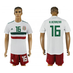 2018 Fifa World Cup Mexico Away #16 Jersey