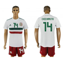 2018 Fifa World Cup Mexico Away #14 Jersey