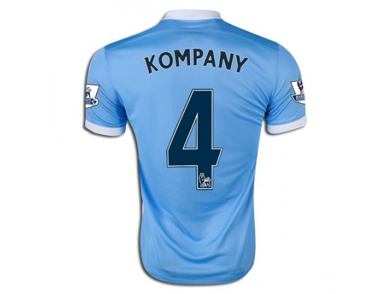 outlet store dd740 4e727 2015/16 Manchester City #4 Vincent Kompany Home Jersey