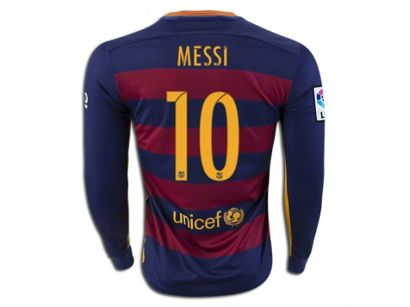 newest 3d32d 6003c 2015/16 Barcelona #10 Lionel Messi Long Sleeve Home Jersey